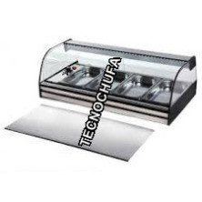 HOT SHOWCASE DRY OR BAIN MARIE CA4E WITH SHELF