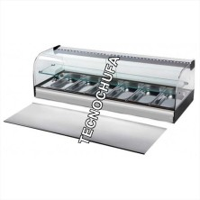 HOT SHOWCASE DRY OR BAIN MARIE CA6E WITH SHELF