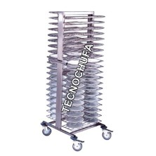 TROLLEY FOR PREPARED DISHES CPP-80 (AC.INOX / ALU) ADJUSTABLE.