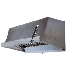 CAMPANA LUX100T CON TURBINA Y FILTROS - 100 X 80 X 70 CMS