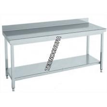 WALL TABLE INOX MTEB86 - 1400 X 600 X 850 MM
