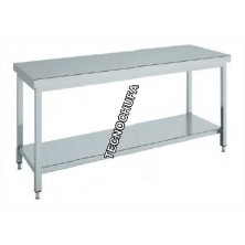 CENTRAL WORK TABLE INOX MTCB186 - 1800 X 600 X 850 MM
