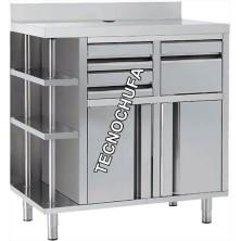 MUEBLE CAFETERO INOX MCAF1000CD - 1000 X 600 X 1050 MM - ENVIO GRATIS