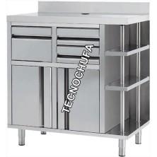 MUEBLE CAFETERO INOX MCAF1000CI - 1000 X 600 X 1050 MM - ENVIO GRATIS
