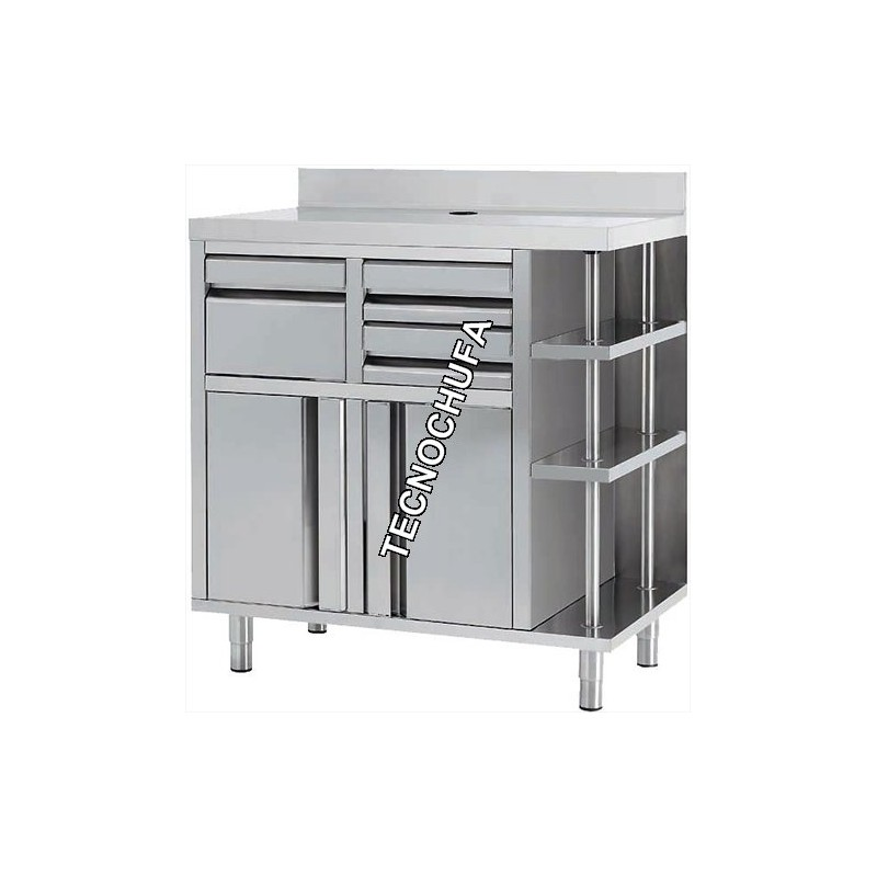 meuble pour machine caf inox mcaf1000ci 1000 x 600 x. Black Bedroom Furniture Sets. Home Design Ideas