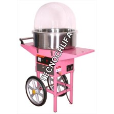 COTTON CANDY MACHINE TECNOCANDY 53 + WITH CART AND COVER