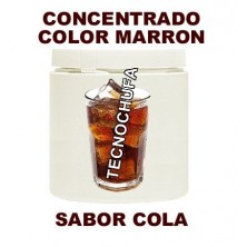 CONCENTRADO DE COLOR MARRON Y SABOR COLA PARA ALGODON DULCE