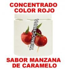 CONCENTRADO DE COLOR ROJO Y SABOR MANZANA DE CARAMELO PARA ALGODON DULCE