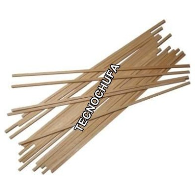 BOX OF 1000 SQUARE WOODEN STICKS 400 X 5 X 5 MM - 4 KGS