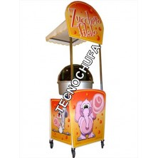 STREET CANDY CART FOR COTTON CANDY MACHINE WITH CANOPY