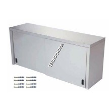 STAINLESS WALL CABINET WITH SLIDING DOOR APC-410