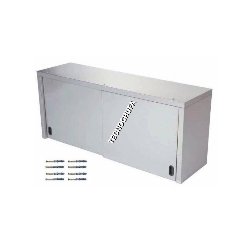 STAINLESS WALL CABINET WITH SLIDING DOOR APC-414