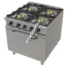 GAS COOKER SERIES ECO 4CH-700 WITH OVEN