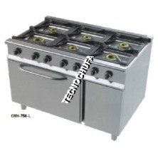GAS COOKER SERIES ECO 6CH-700 WITH OVEN