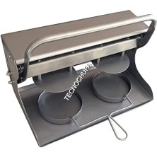 MANUAL BURGER TRAY 2 X 130 (ROUND-STAINLESS STEEL)