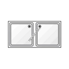 DOUBLE SINK WITH FRAME FGD-187 (1800x700 mm)
