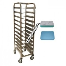 STAINLESS STEEL TROLLEY AISI 201 EURONORM TRAY 1/1 AND 1/2 CBI-12