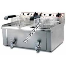 DOUBLE ELECTRIC FRYER FESGD-13L-SD (12 + 12 LITERS)