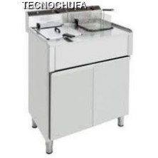 FED-10SM DOUBLE ELECTRIC FURNITURE FRYER (10 + 10 LITERS / THREE-PHASE)