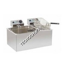 GASTRONORM DOUBLE ELECTRIC FRYER FE-14GD (10 + 4 LITERS)