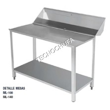 PREPARATION TABLE ML-140 (DISHWASHER WITH DOME)