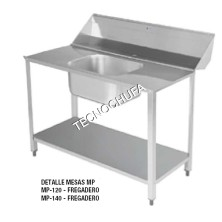 PREPARATION TABLE MP-120 (DISHWASHER WITH DOME)