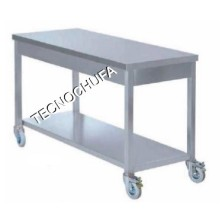 WORK TABLE WITH WHEELS MTR-107 INOX