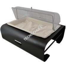 BUFFET MODULE FOR 1/1 BLACK POLYCARBONATE BREAD SVGN1D-NER