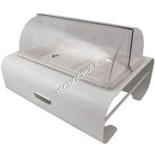 BUFFET MODULE FOR 1/1 BREAD OF POLYCARBONATE WHITE SVGN1D-BIA