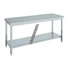 CENTRAL WORK TABLE INOX MTCB147 - 1400 X 700 X 850 MM
