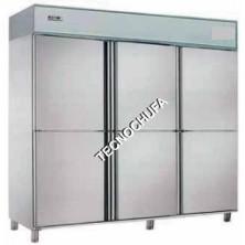 REFRIGERATOR CABINET AR-306 INOX (6 VENTILATED DOORS)