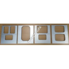 MOLDS FOR THERMAL SEALING MACHINE TS-220 (3 BARQUETS OF 137x95)
